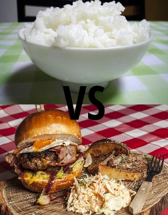 Riz VS Burger