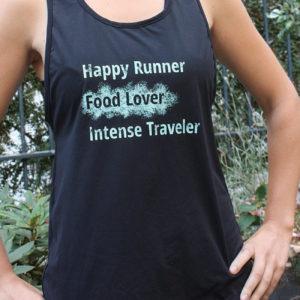 Débardeur Noir GAYASKIN Happy Runner