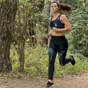 Ensemble legging SKIN équivoque et brassière, running