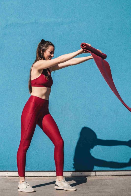 5 Ensemble gayaskin Helios rouge tapis yoga