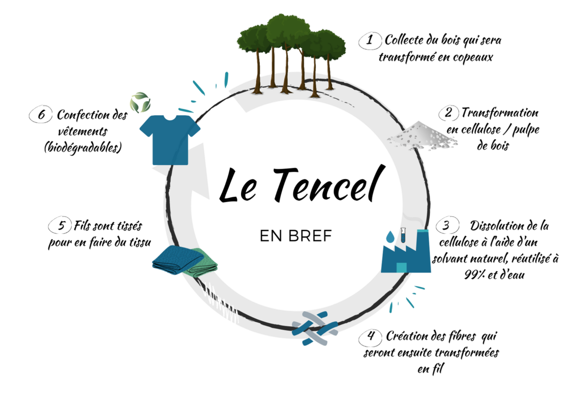 Infographie cycle Tencel